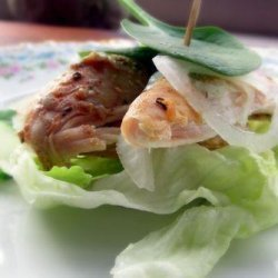 Curried Chicken Lettuce Wraps recipe
