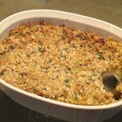 Savory Corn and Bacon Bread Pudding #RSC recipe