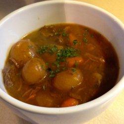 Pressure Cooker Golden Mushroom Beef Stew recipe