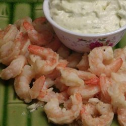 Garlic Shrimp With Wasabi Mayonnaise recipe