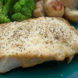 Baked Halibut With Parmesan recipe