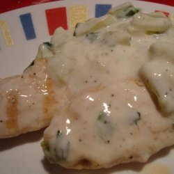 Grilled Chicken Breast With Yogurt and Cucumber Sauce recipe