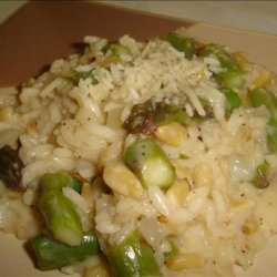 Asparagus Risotto With Pine Nuts recipe
