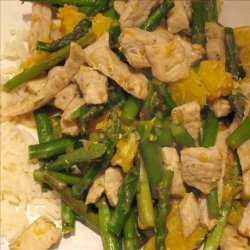 Orange Pork and Asparagus Stir-Fry recipe
