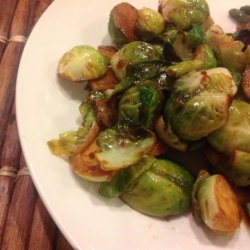 Soy and Sriracha Glazed Brussels Sprouts recipe