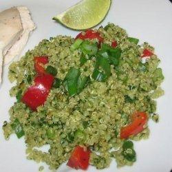 Mexican Quinoa With Pepita-Cilantro Sauce recipe