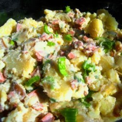 Salade Curichoise ( Potato Salad W/Ham, Celery and Cream) recipe