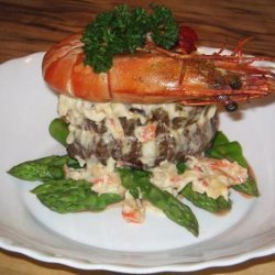Crab and Blue Cheese Steak Topper recipe