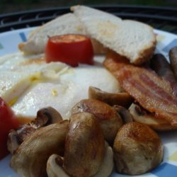 Bacon and Eggs With Tomatoes and Mushrooms recipe