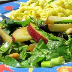 Curried Spinach Salad recipe