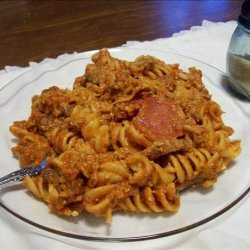 Slow Cooker Pizza Casserole recipe