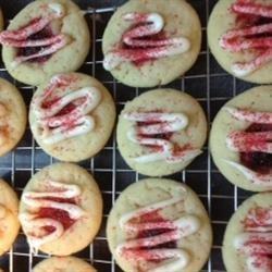 White Chocolate Raspberry Thumbprint Cookies recipe