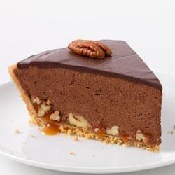 Chocolate-Glazed Turtle Pie recipe