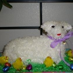 Easter Lamb Pound Cake recipe