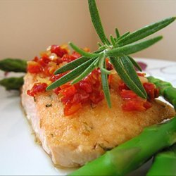 Herbed Salmon Fillets With Sun-Dried Tomato Topping recipe