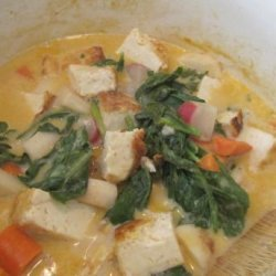 Thai Tofu With Zucchini, Red Bell Pepper and Lime recipe