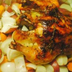 Honey, Vanilla, and Thyme Roasted Chicken recipe