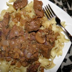Sirloin Tips With Garlic Butter Stroganoff recipe