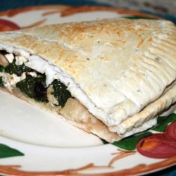 Spinach and Feta-Stuffed Focaccia recipe