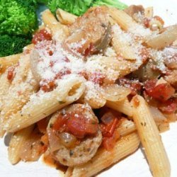 Penne With Italian Sausage, Tomato and Herbs recipe