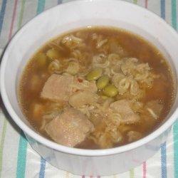 Pork and Edamame Soup recipe