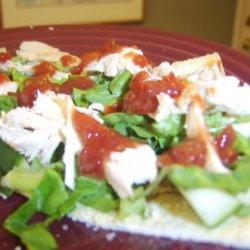 Chicken and Hummus Wraps recipe