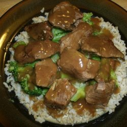 Braised Beef Tips over Rice recipe