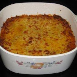 Cheesy Ground Beef-Spinach Sour Cream Noodle Casserole recipe