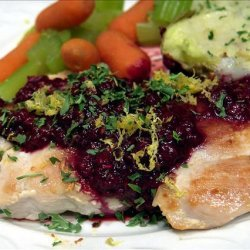 Chicken Cutlets With Fresh Raspberries recipe