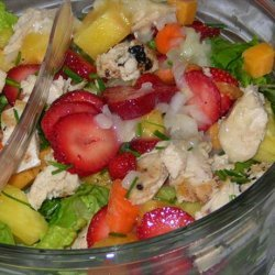 Fruity Grilled Chicken Salad Supper recipe