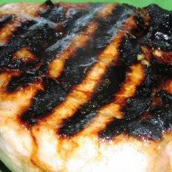Grilled Mustard-Honey Garlic Pork Chops (Low Fat) recipe