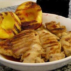 bourbon glazed chicken and peaches recipe