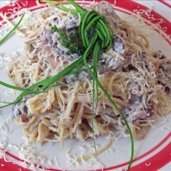 Easy Angel Hair Pasta With Creamy Mushroom Sauce recipe