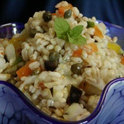 Lemon Mint Barley Salad recipe