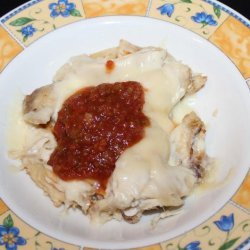 Leftover Salsa Chicken and Cheese recipe