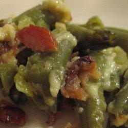 Baked Garlic Bacon Green Beans recipe