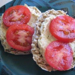 Nan's English Muffin, Hummus,  & Tomato Sandwich ( Ww ) recipe