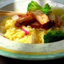 Noodles With Stir-Fried Tofu and Broccoli recipe
