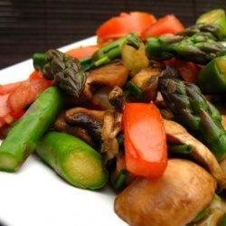 Stir Fry Asparagus and Mushrooms recipe