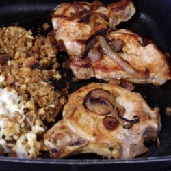 French Onion-Pork Chops Skillet recipe