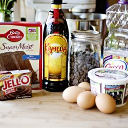 Unbelievable Chocolate Kahlua Cake recipe