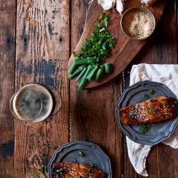 Salmon With Ginger Glaze recipe