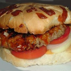 Barbecued Pork Burgers recipe