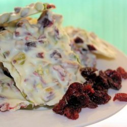 White Chocolate Bark With Pistachios and Dried Cranberries recipe