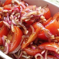Greek Style Tomato and Onion Salad recipe