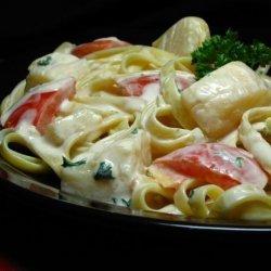 Scallops Alfredo recipe