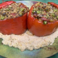Stuffed Bell Peppers With a Savoury Cashew Sauce recipe