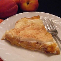 Peaches and Cream Pie recipe