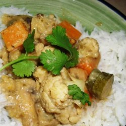 Green Coconut Curry With Vegetables recipe