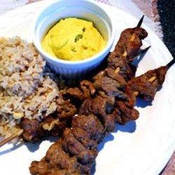 Beef Satays With Macadamia Nut Dipping Sauce recipe